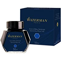 Deals on Waterman Fountain Pen Ink Serenity Blue 50ml Bottle