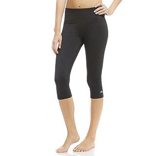 Marika Women's Brooke High Rise Tummy Control Capri Leggings, Heathered Black, X-Small