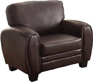 "Homelegance Rubin 41"" Bonded Leather Chair, Dark Brown"