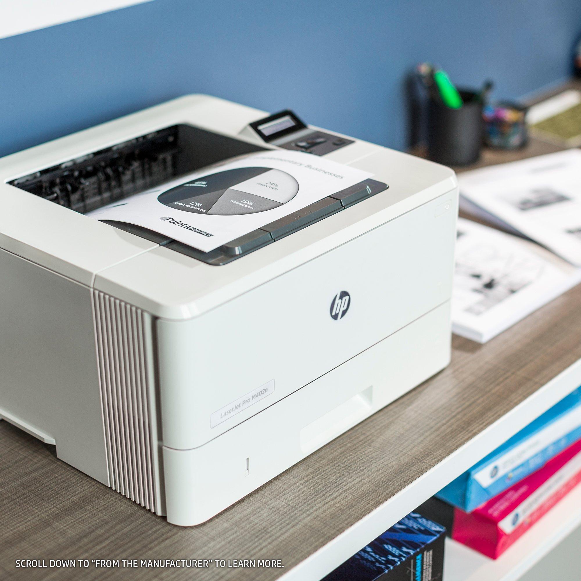 HP Laserjet Pro M402n Monochrome Printer, (C5F93A) (Renewed) by HP (Image #4)