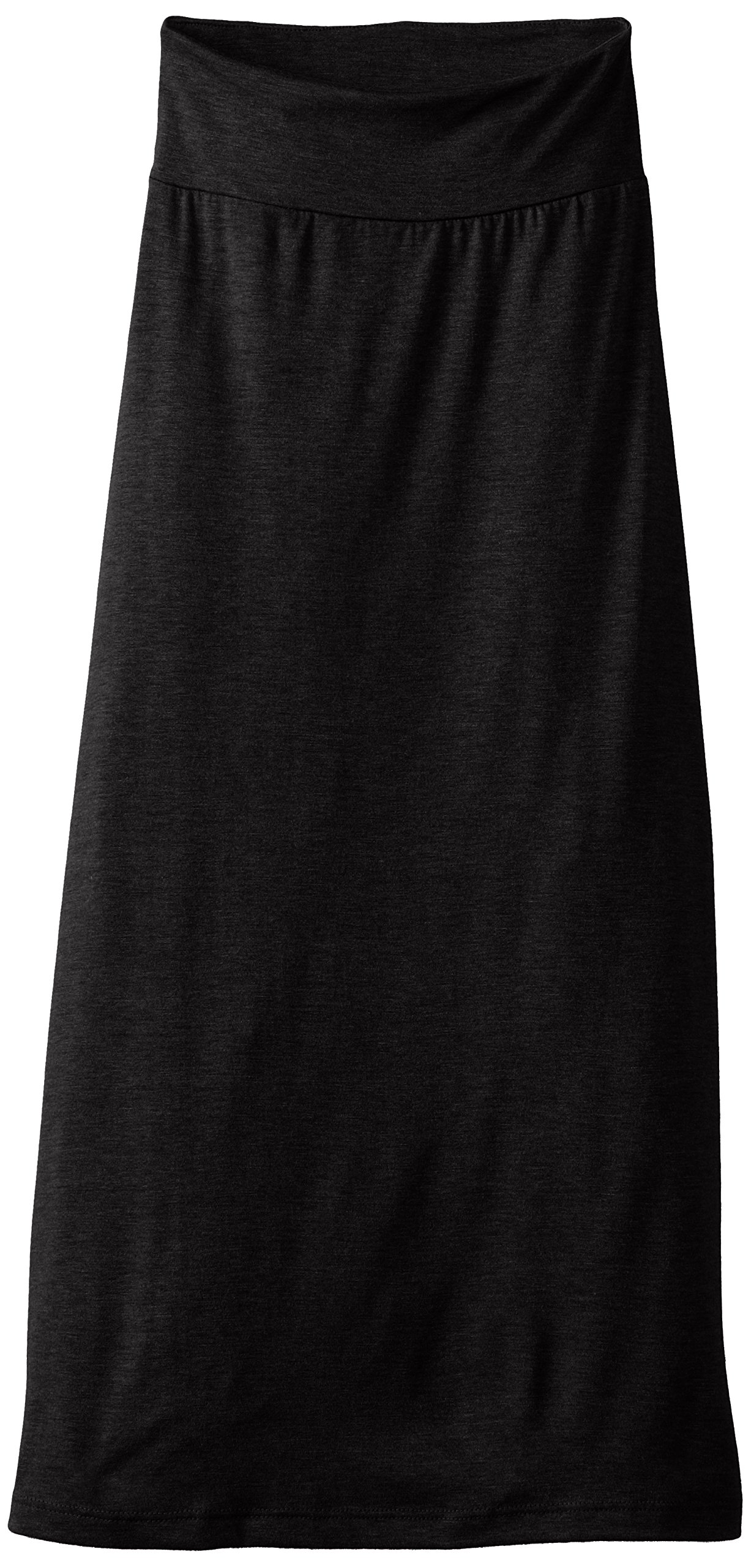 Amy Byer Girl's 7-16 Solid Maxi Skirt, Black, X-Large