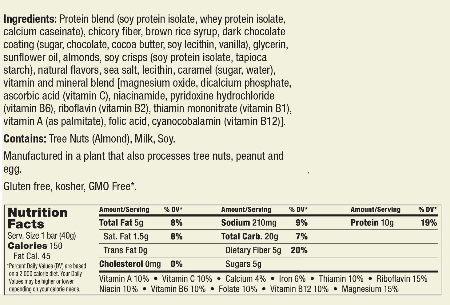 thinkThin Protein Fiber Bars, Salted Caramel, 1.41 Ounce 20 Count