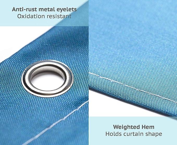 Rideaux de douche 3D Imprimé Numérique Polyester antibactérien Moule Proof 12x CROCHETS