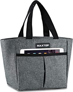 MAXTOP Insulated Lunch Bags for Women,Thermal Lunch Tote Bag with Front Pocket,Perfect Gifts for Women for Office Work Picnic Shopping