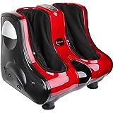 Shiatsu Kneading Rolling Vibration Heating Foot & Calf Massager Personal Health Studio Leg Beautician red