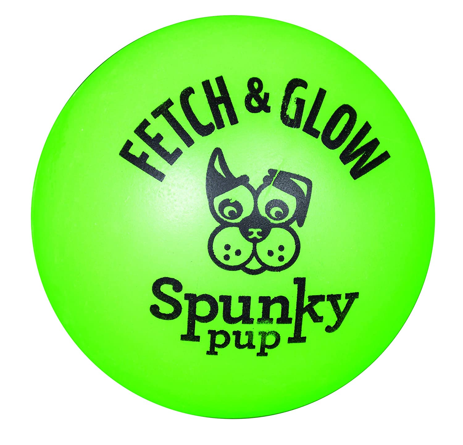 Spunky Pup Fetch and Glow Ball, Small, 2-Pack (Assorted Colors) American Dog Toys 1957