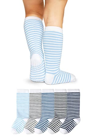 Violet Purple with Stripes White with Blue Max Grey Kids Socks 3 Pair ~ Size 4-6