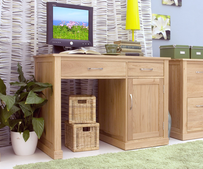 Möbel Single mobel oak single pedestal computer desk amazon co uk kitchen home