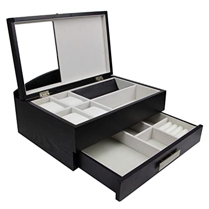 5441d91ab Image Unavailable. Image not available for. Colour: Decorebay Executive Men  Wood Valet Storage Box Organizer ...