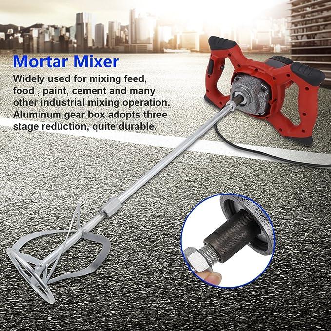 Agitador 1500 W barro mezclador Mortero Licuadora 6 velocidad de ...