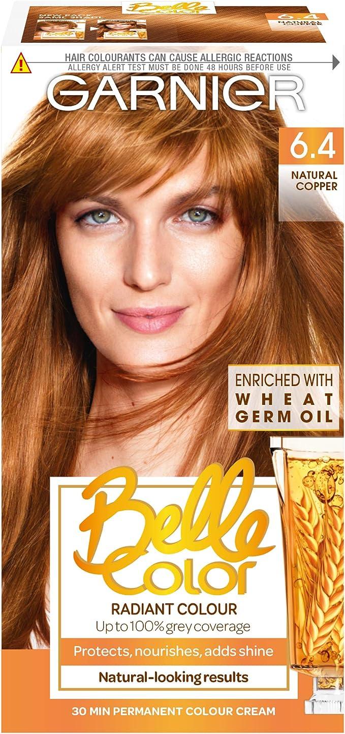 Belle color 6.4 Cobre Natural permanente tinte de pelo ...