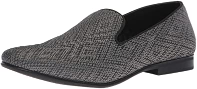 96d2efc0ddf Steve Madden Men s Chevron Loafer Grey Fabric 7 M US
