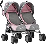 Silver Cross Pop Twin Dolls Pushchair / Stroller. For ages 18 months - 3 years. Handle height 61cm - Vintage Pink Fabric