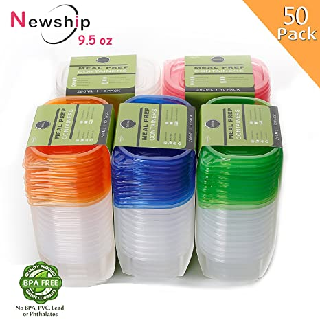 Amazoncom 50 Pack Small Food Storage Containers with Lids
