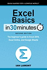 Excel Basics In 30 Minutes (2nd Edition) (In 30 Minutes Series): The beginner's guide to Excel 2016, Excel Online, and Google Sheets Kindle Edition