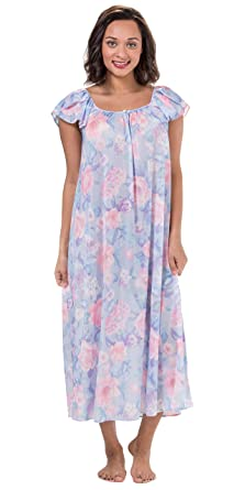 Miss Elaine Tricot Long Flutter Sleeve Nightgown in Spring Garden (Floral  Print 38fe011bd