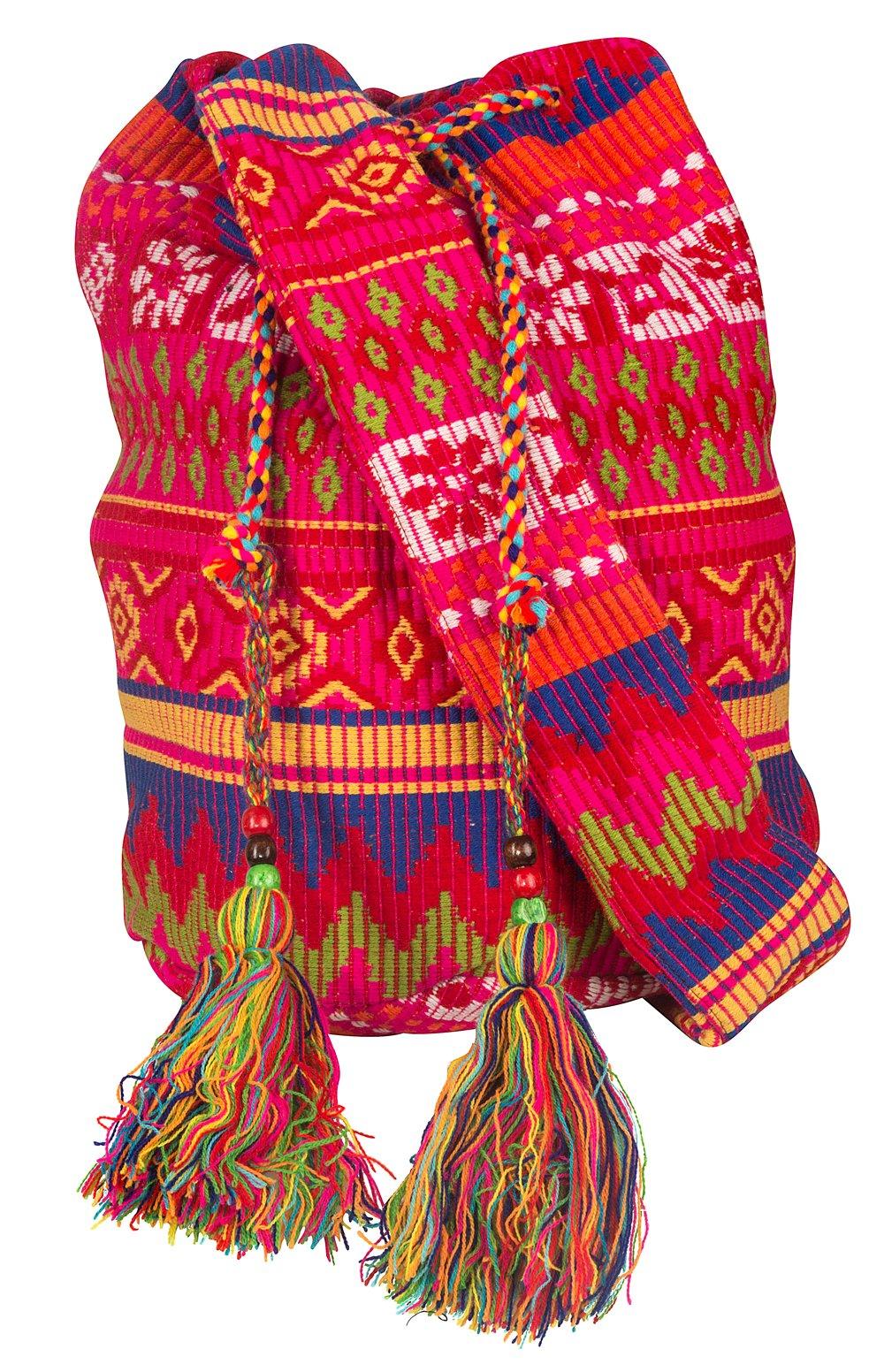 Tribe Azure Oversize Pink Hobo Shoulder Bag Crossbody Beach Shopping Market Casual Hippie Sling Messenger