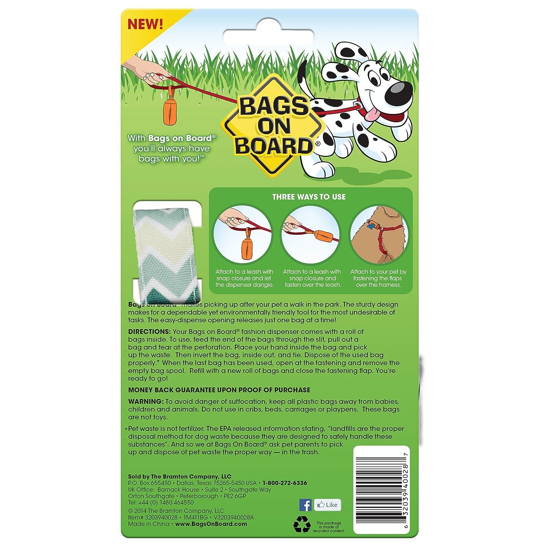 Bolsas a Bordo dispensador de Recogida de residuos y Bolsas de Recambio, Diamante: Amazon.es: Productos para mascotas