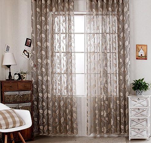 RLANG Vorhange Wohnzimmer Modern Mit Krauselband Oben Gardinen Grau Und Gold HxB 180x300 Cm