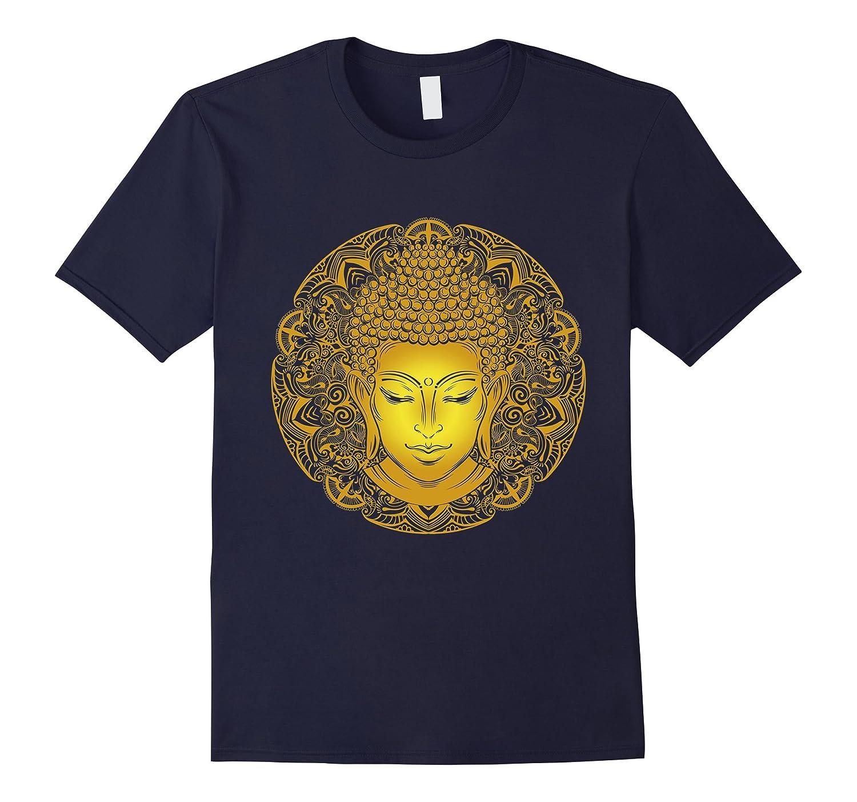 Amazing Golden Metal Buddha Head Tees gift-Art