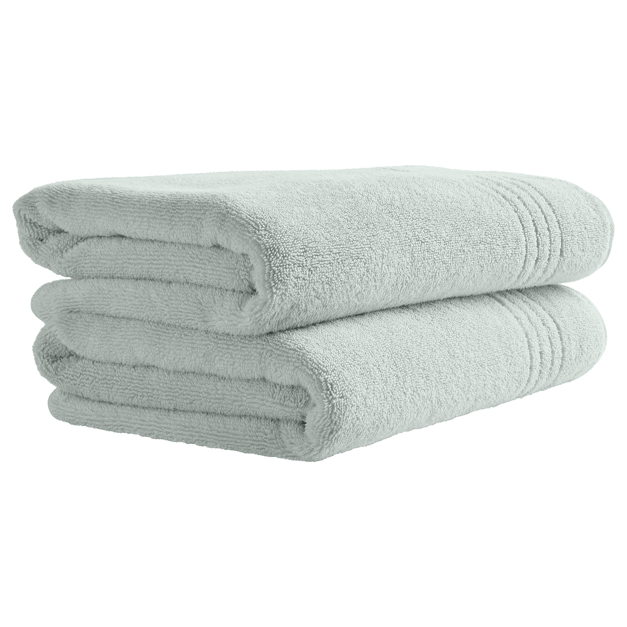 Rivet Quick-Dry Cotton Bath Towels, Set of 2, Mint