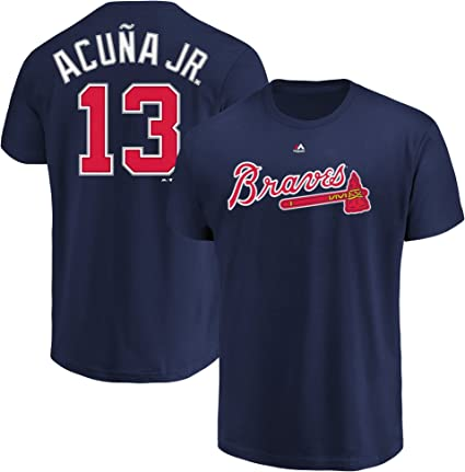 Freddie Freeman Atlanta Braves MLB Majestic Youth Boys Youth 8-20 Navy Official Player Name /& Number T-Shirt