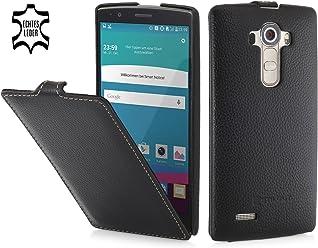 StilGut UltraSlim Case, Custodia in Pelle per LG G4, Nero