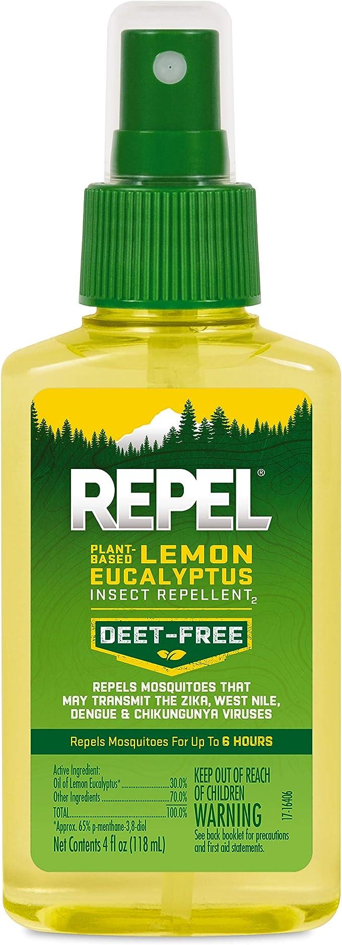 Repel 驱虫喷雾, 含天然柠檬桉,四星好评,销量第一