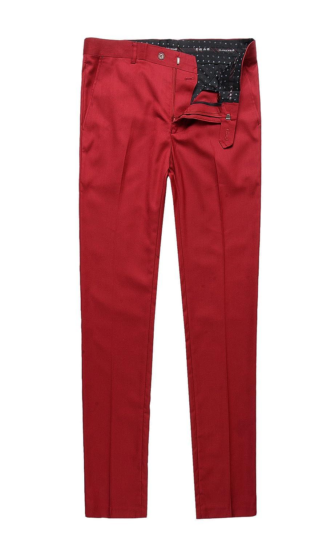 Benibos Men's Stretch Modern-Fit Flat-Front Dress Pant