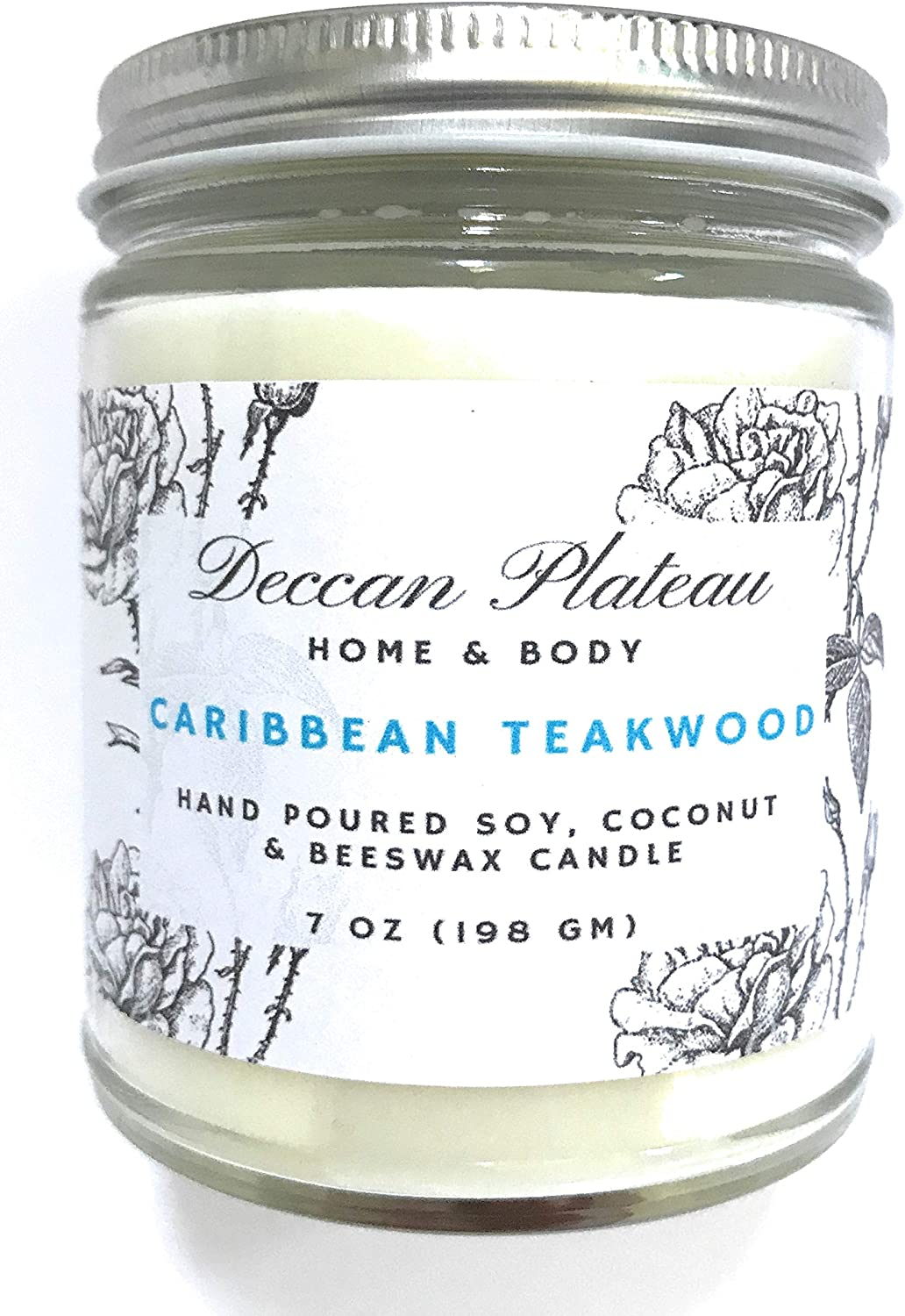 Amazon Com Caribbean Teakwood Scented Candle Hand Poured In The Usa Long Lasting 7 Oz Home Improvement