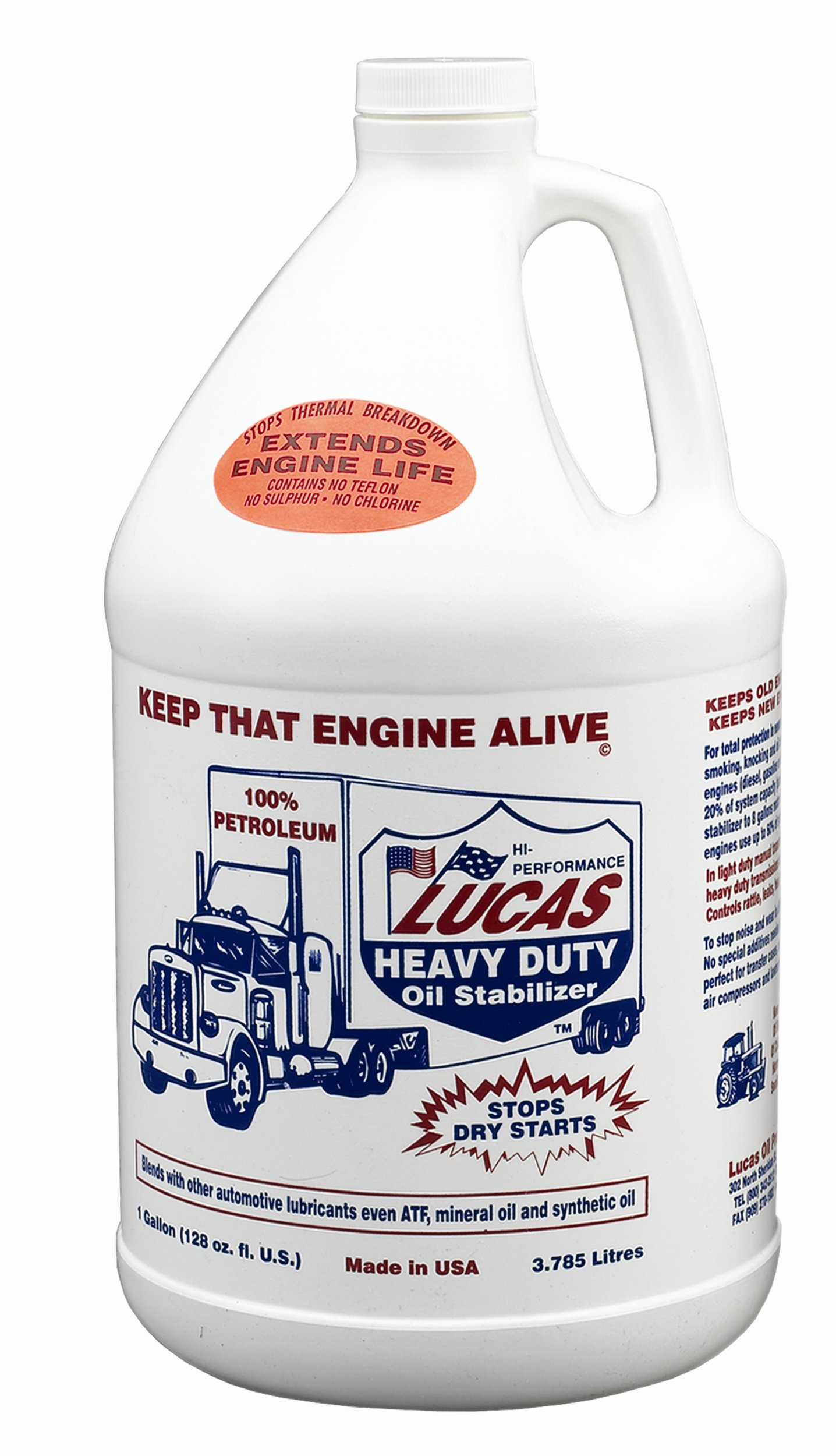 Lucas Oil 10015-PK1 Heavy Duty Oil Stabilizer - 5 Gallon by Lucas