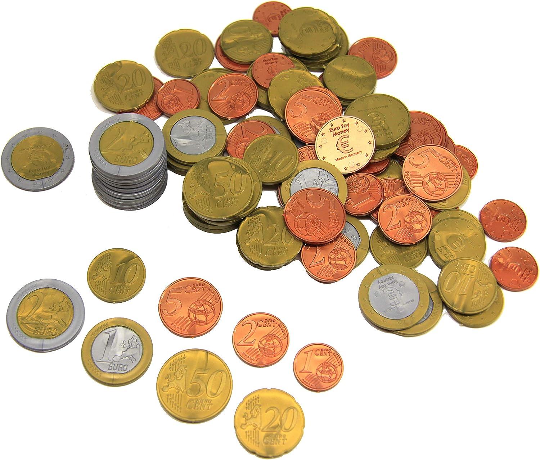 WISSNER aktiv lernen-160 EURO Rechengeld Münzen Monedas de 160 euros-RE-Plastic, multicolor (080610.160) , color/modelo surtido