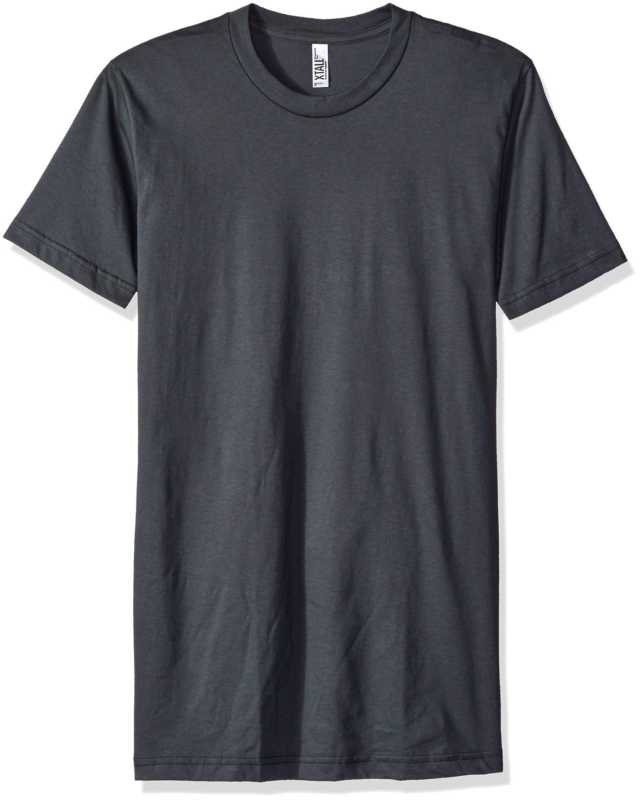 American Apparel Men's Fine Jersey Short Sleeve Tall Tee, Asphalt, X-Large