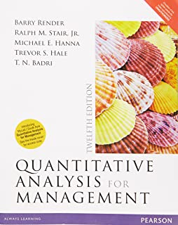 quantitative analysis for management 13th edition answer key