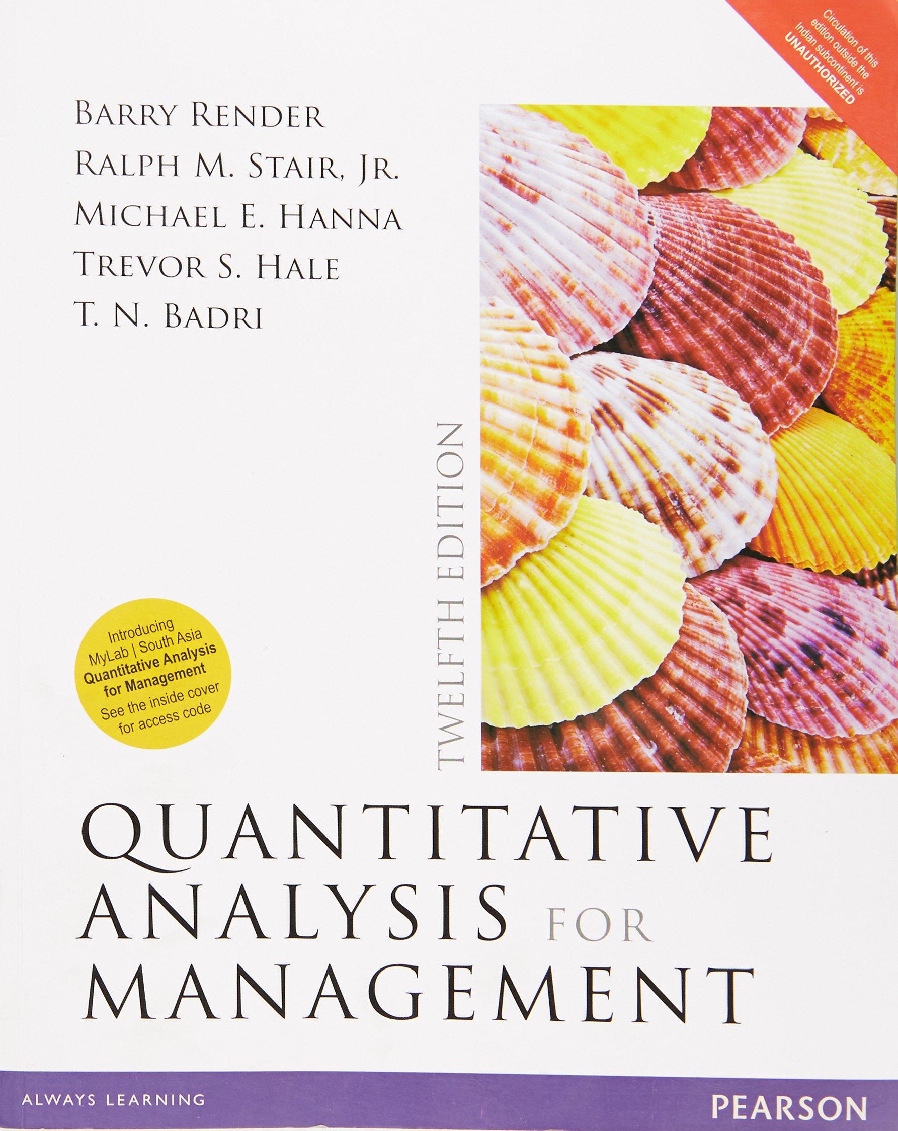 Quantitative Analysis For Management 12 Ed pdf epub