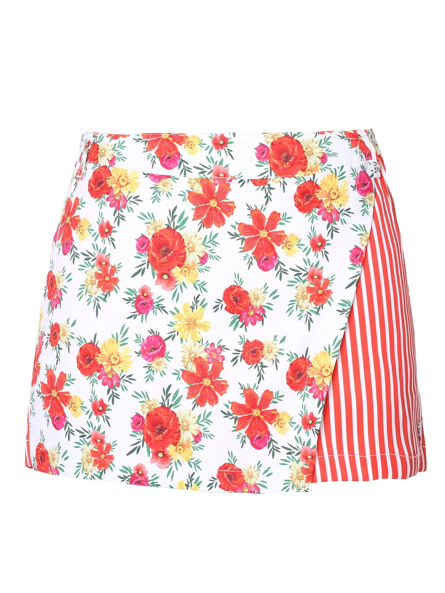 SunviewGolf Women's Floral Print Golf Skorts/Shorts Striped Casual Shorts M