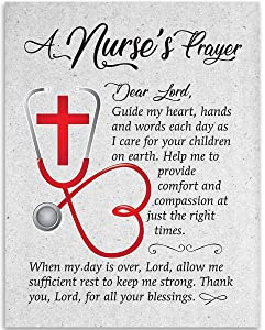 Dear Lord - A Nurse's Prayer - 11x14 Unframed Art Print - Great Gift For Nurse's Day and Home and Office Decor Under $15