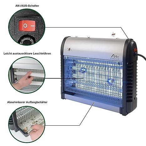 Gardigo 62400 - Destructeur d insectes volants  Désinsectiseur lampe UV  Ultraviolet anti-insects, moustiques  Bac collecteur, chaîne de suspension   ... 9b010de94d34