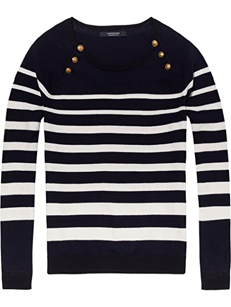 Scotch   Soda Damen Pullover Fitted Pull with Buttons at Raglan ... 4674f97ef220