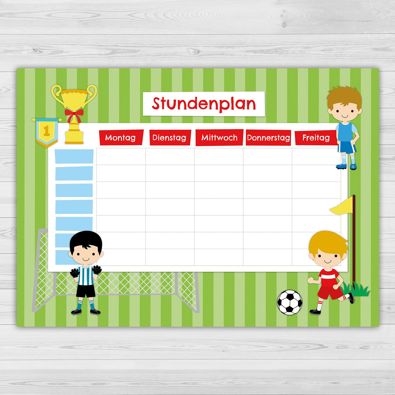 Papierdrachen Stundenplan Schule Din A4 Block Motiv Einhorn