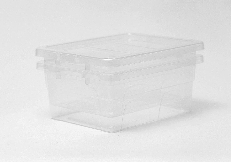 cassa Grigio Contenitore di plastica 60 x 40 x 12 24l scatola di plastica Contenitore in plastica