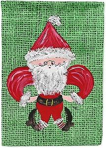 Caroline's Treasures 8746GF Christmas Santa Fleur de lis Flag Garden Size, Small, Multicolor
