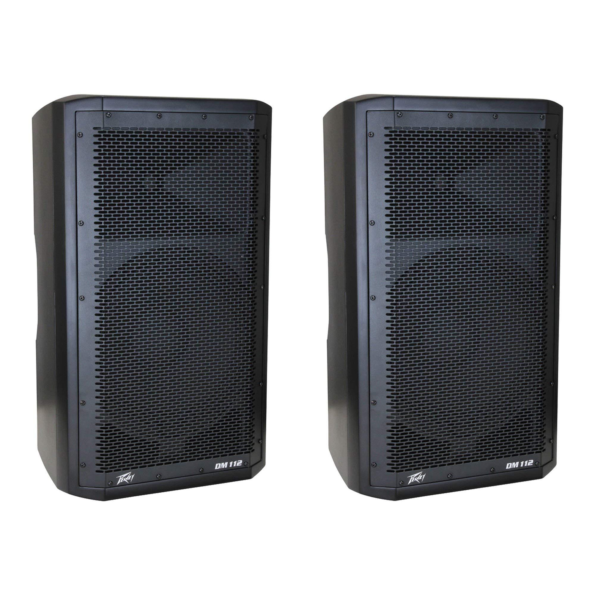 Peavey Dark Matter DM112 Pro DJ 2-Way Active 12 Inch Powered PA Speaker (2 Pack) by Peavey