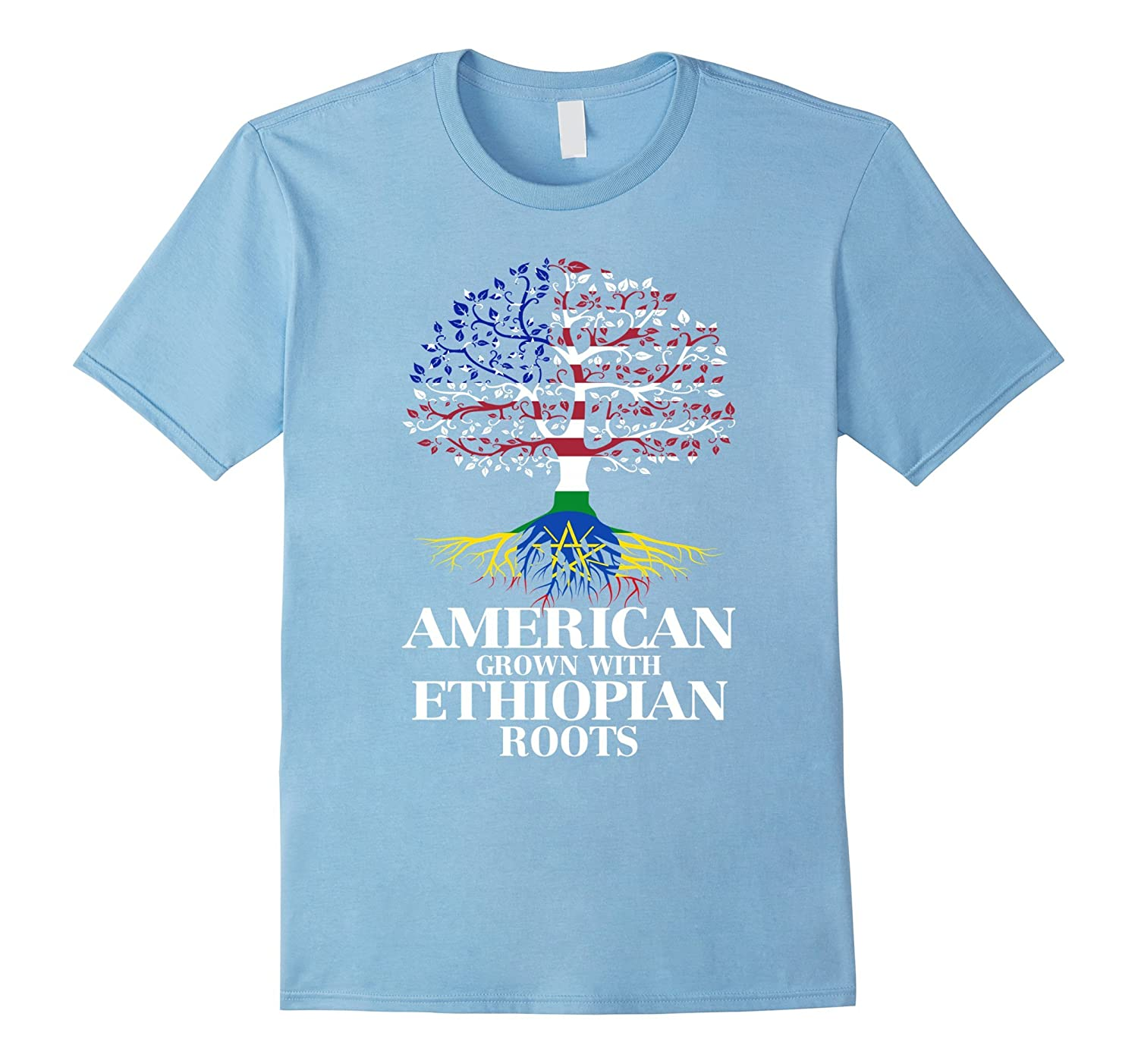 American Grown With ETHIOPIAN Roots T-Shirt Tshirt-BN