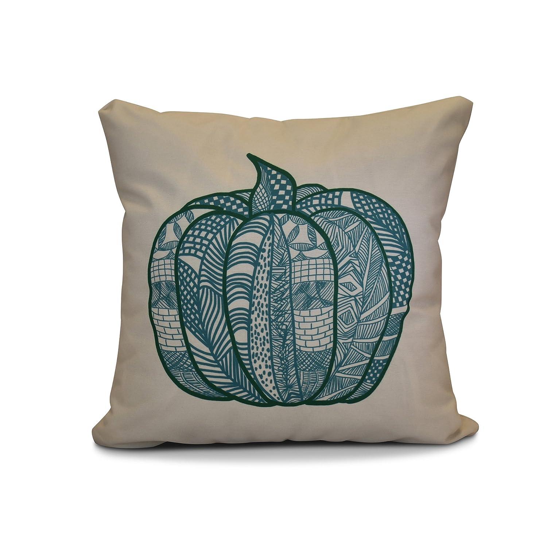 Pumpkin Patch Geometric Print 20x20 Blue E by design PHGN714BL37-20 20 x 20-inch