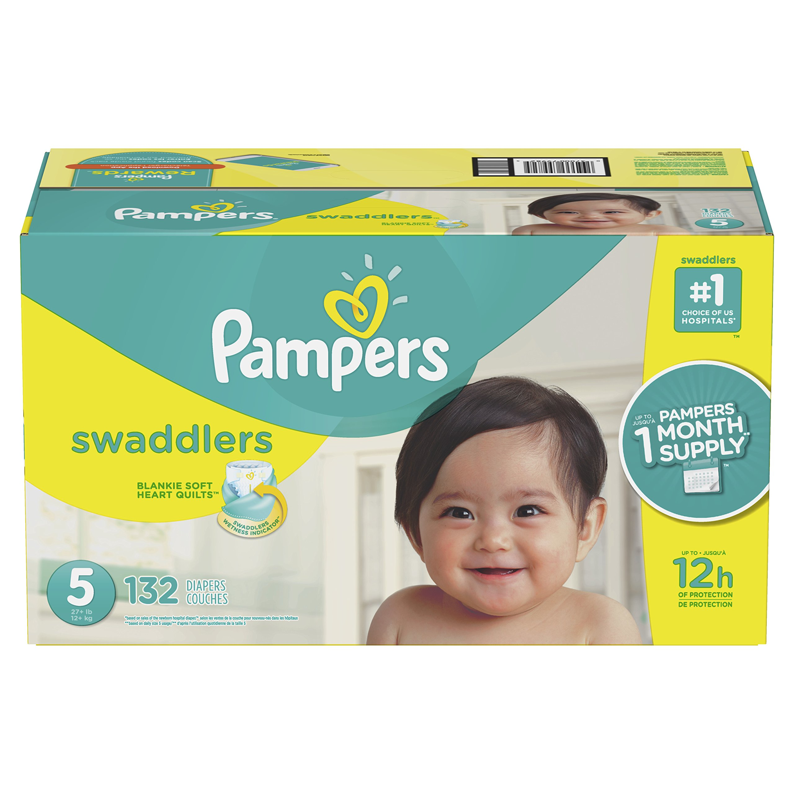 Pampers Swaddlers Disposable Diapers Size 5, 132 Count