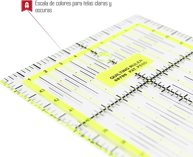 Alfa A6022-Regla de Patchwork 15x30 cm: Amazon.es: Hogar