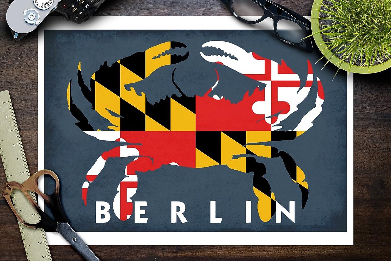 Amazon Com Berlin Maryland Crab Flag 9x12 Fine Art