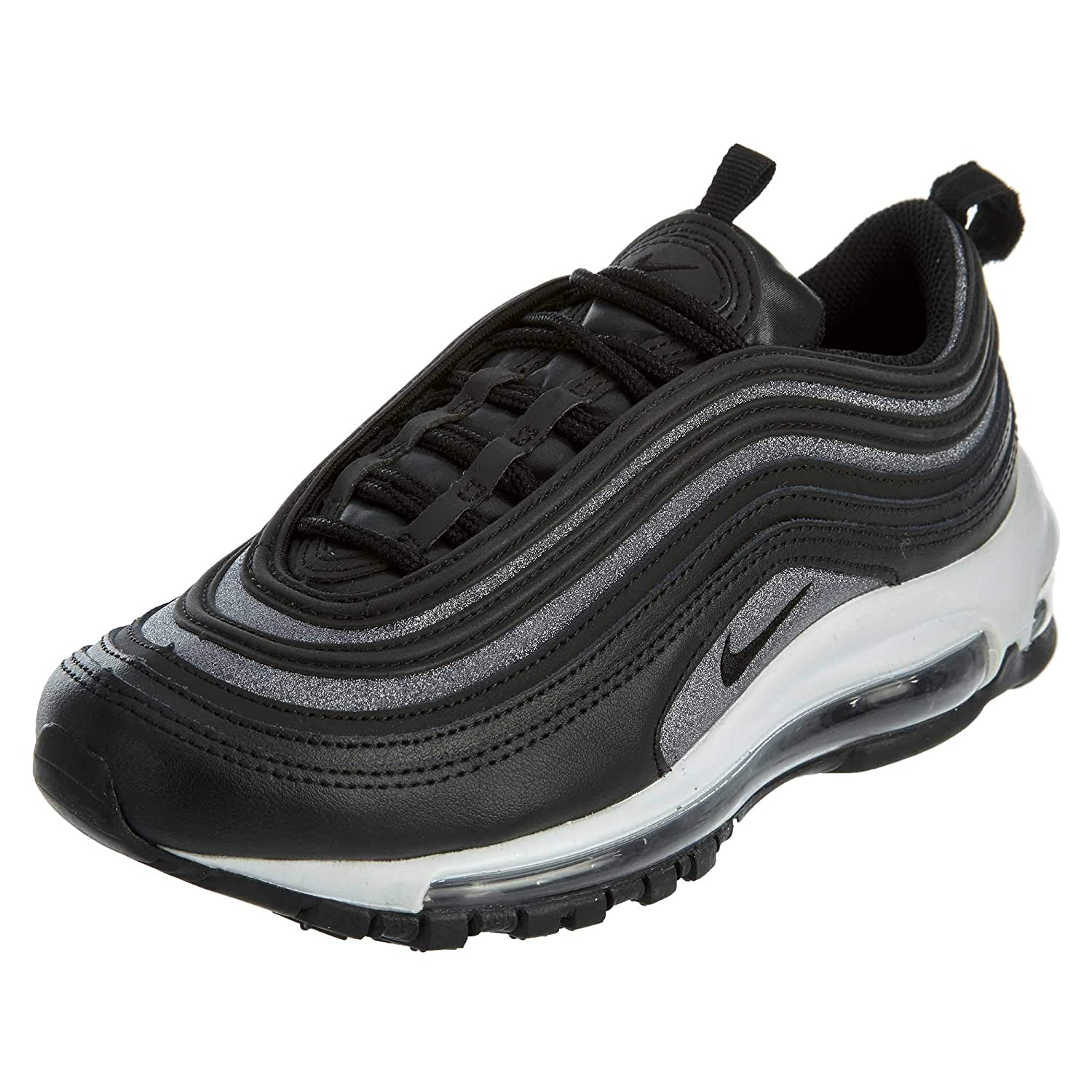 38126ffc8e Amazon.com | Nike Air Max 97 Glitter Black White Running Womens | Road  Running