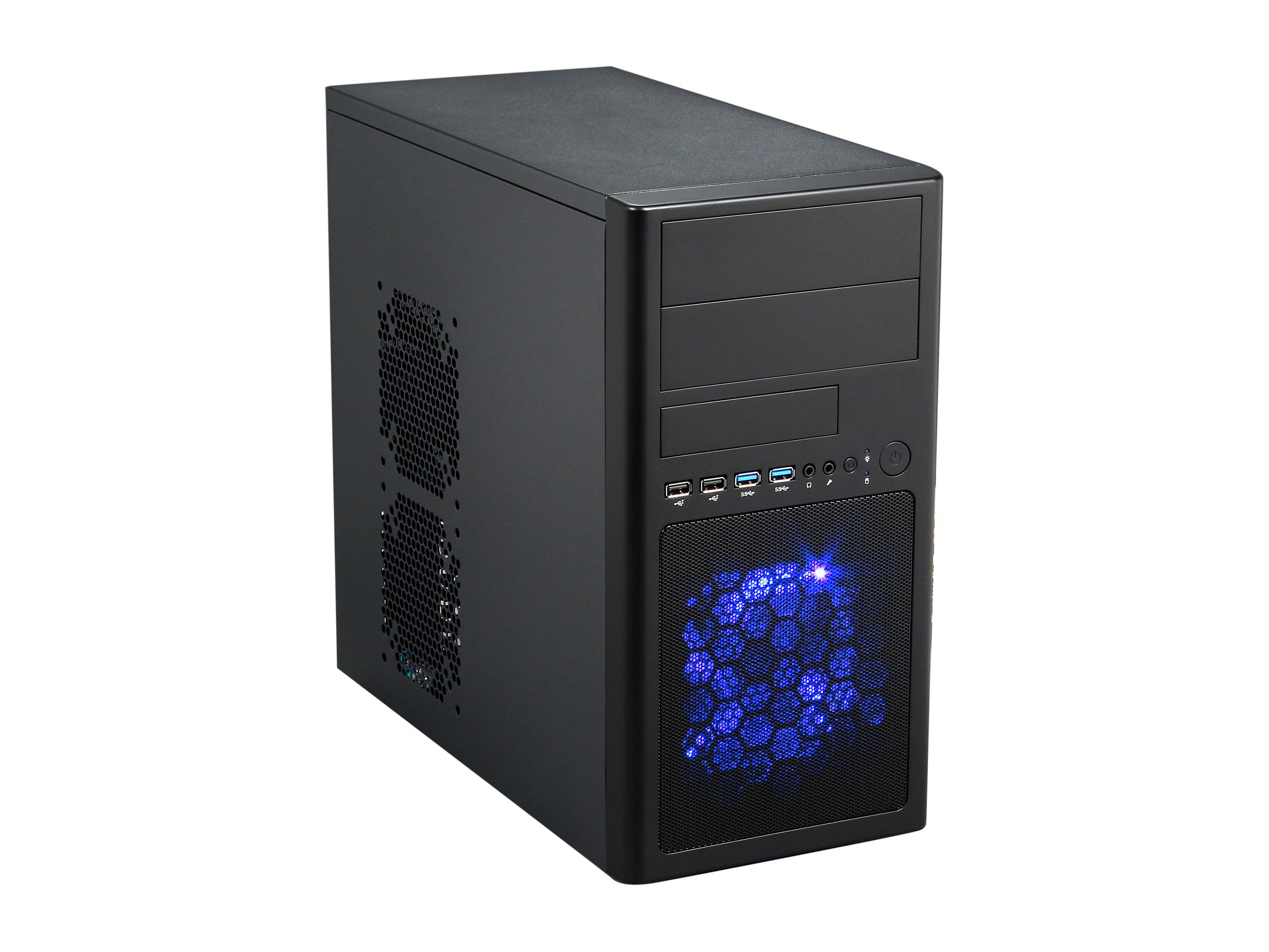 Rosewill Micro-ATX Mini Tower Computer Case with Dual USB 3.0, Dual Fans and 12.5-Inch Card LINE-M Black by Rosewill